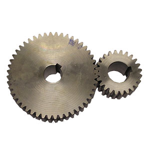 B1-014a Pair of large main drive gears (1x25mm i/d bore, 1x30mm i/d bore)